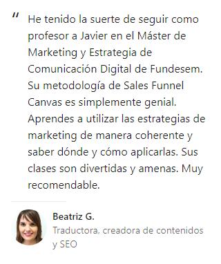 Opinión Beatriz G.